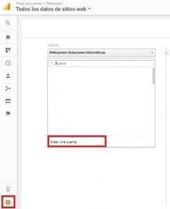 google analytics - paso 1