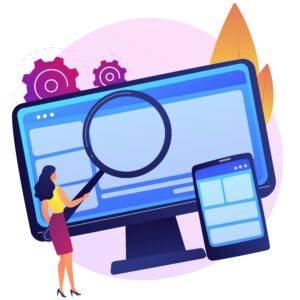 diseño web valencia - mujer diseñando